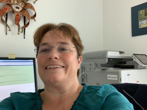Magdalena Martullo-Blocher an der Arbeit im Home-Office.