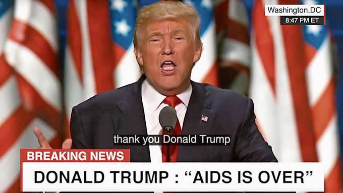 Der US-Präsident verkündet, Aids besiegt zu haben. Doch es sind bloss Fake-News, verbreitet als Deepfake-Video.