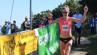 Martina Strähl scheint bereit für den Berlin Marathon.