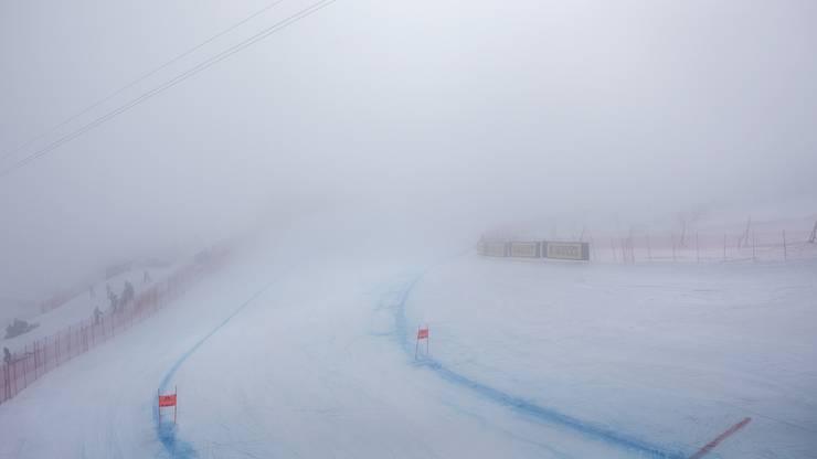 So sieht es im Startgelände aus: Dicker Nebel und wenig Sicht.