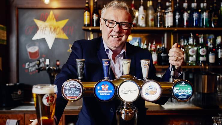 Ian Nicol hat vor zwanzig Jahren das «Penny Farthing» eröffnet und den Aarauern gezeigt, wie ein Pub sein muss.