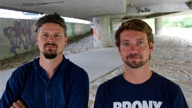 Sollen dafür sorgen, dass die Jugendlichen die Chance innerhalb des gesetzten Rahmens nutzen: Samuel Hasler (l.) und Sebastian Benz.