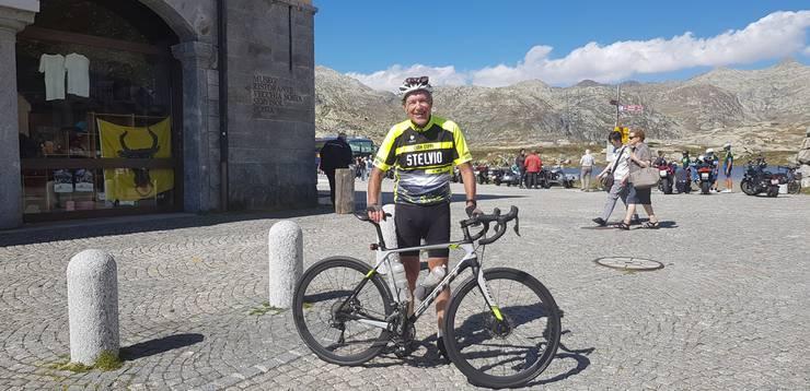 Ernst Hasler fuhr letztes Jahr unter anderem auf den Gotthardpass.