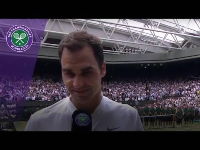 «Es ist Magie, ich kann es selbst kaum glauben»: Roger Federer im Wimbledon-Sieger-Interview