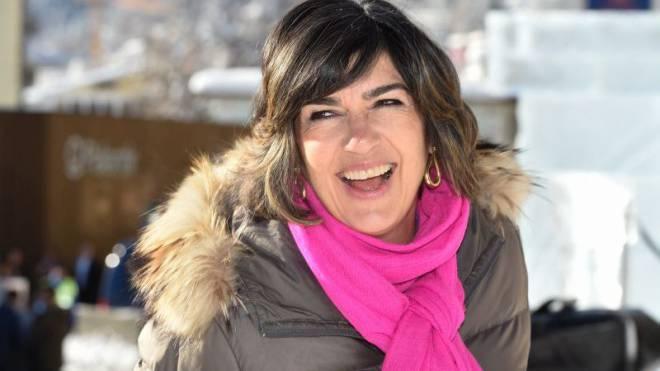 CNN-Journalistin Christiane Amanpour am Donnerstag am Weltwirtschaftsforum in Davos. Foto: André Springer