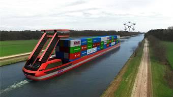 Komplett emissionsfrei sollen die elektrischen Frachtschiffe von PortLiner bald Güter durch Europa transportieren.