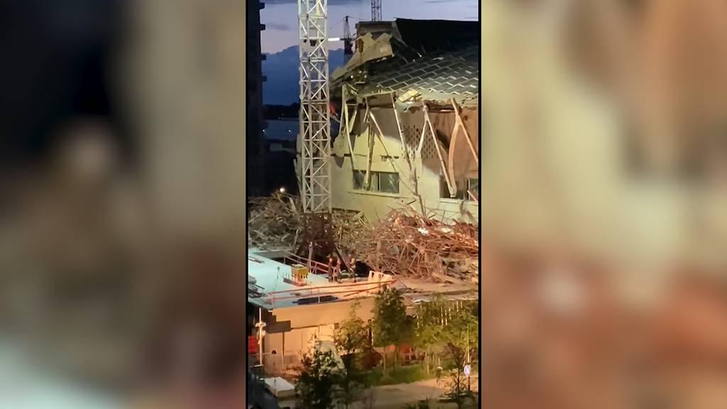 Neubau einer Schule eingestürzt - mindestens drei Tote