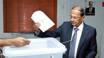 Libanons Präsident Michel Aoun.