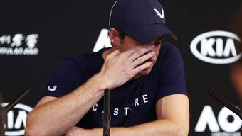 Ein emotionaler Andy Murray bei seiner Pressekonferenz in Melbourne.