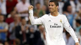 Cristiano Ronaldo mit zwei Treffern für Real Madrid.