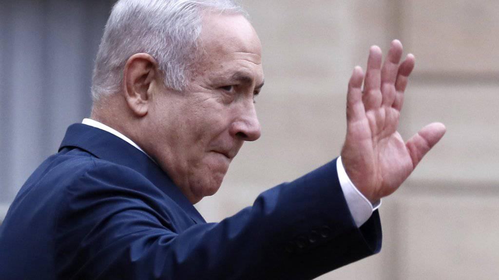 Er schielt nun auch auf das frei gewordene Amt des Verteidigungsministers: Israels Präsident Benjamin Netanjahu. (Archivbild)