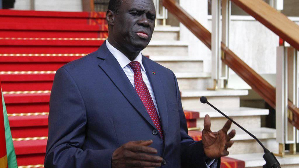 Wurde zusammen mit Regierungsmitgliedern angeblich während einer Kabinettssitzung festgenommen:  Michel Kafando, Übergangspräsident von Burkina Faso. (Archivbild)