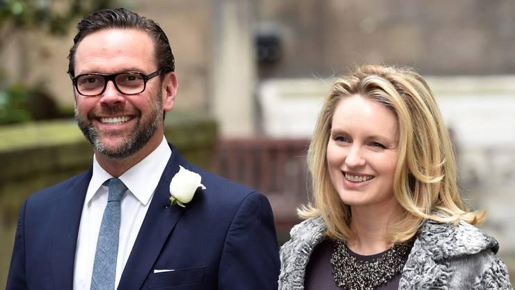 Rupert Murdochs Sohn James mit seiner Fraue Kathryn Hufschmid
