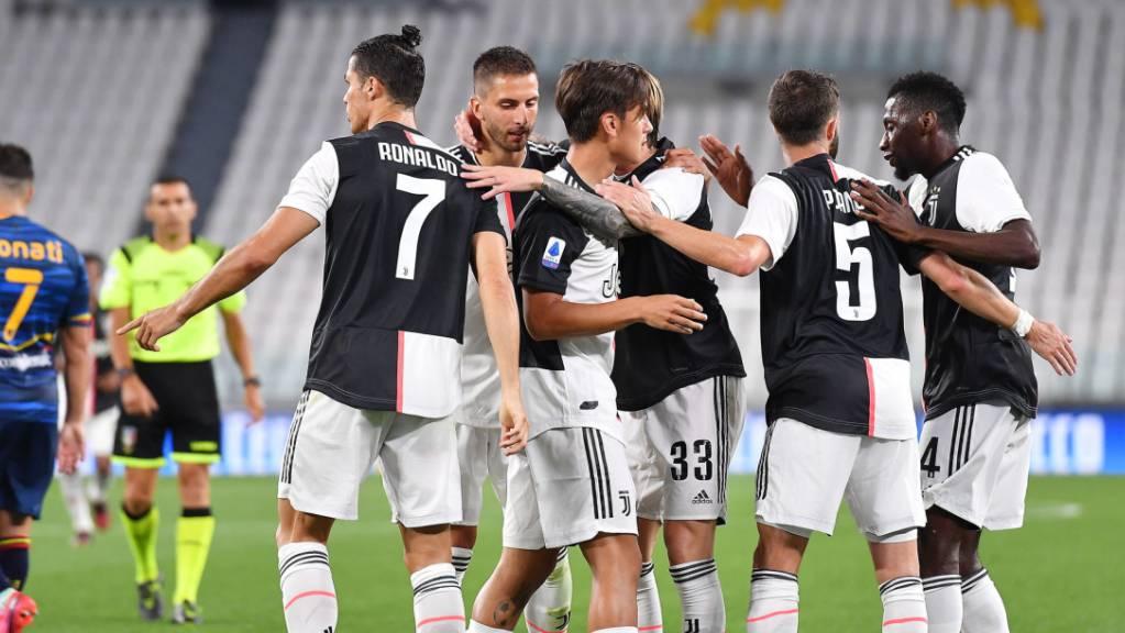 Juventus kann nach zähem Start gegen Aufsteiger Lecce doch jubeln.