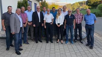 Bereiten die Fusion der acht Gemeinden zu «Zurzach» vor.