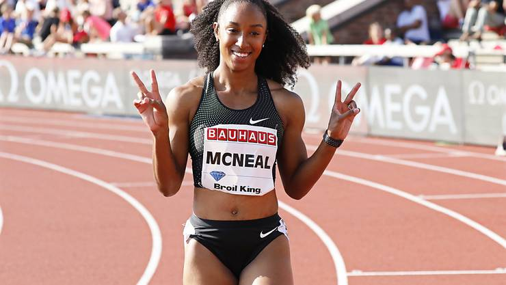 Über 100 m Hürden auch in Luzern eine Macht: Die Amerikanerin Brianna McNeal