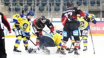 Der EHC Basel hatte gegen Arosa seine Mühe.