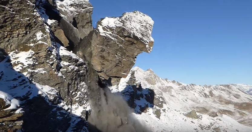 Spektakulärer Felssturz im Wallis: Hier donnern 2000 Kubikmeter Stein ins Tal
