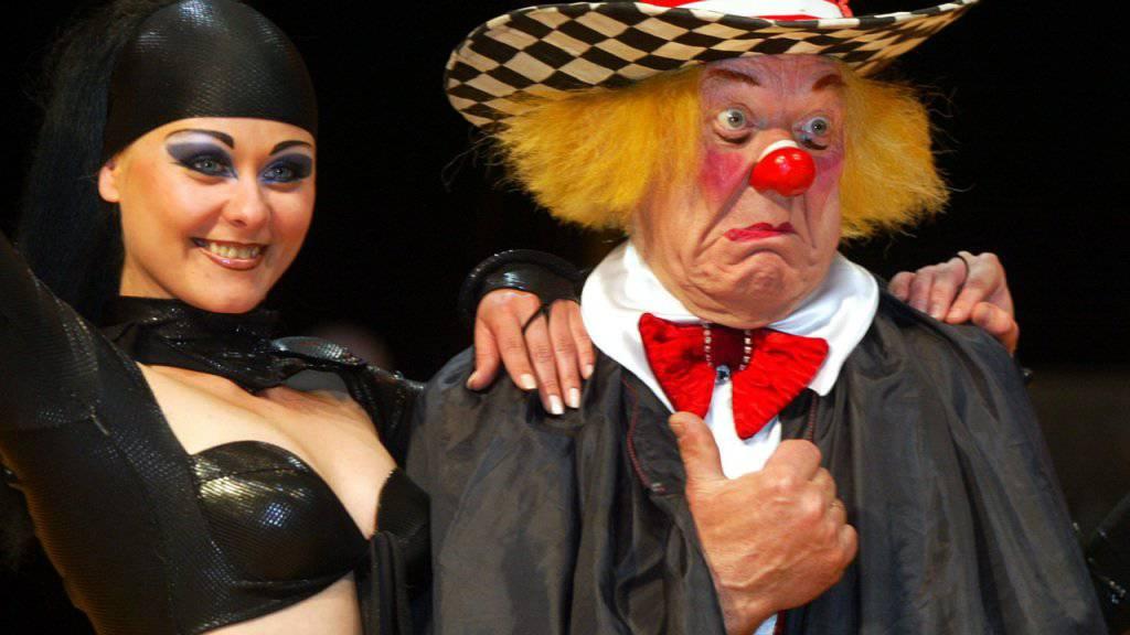 Der legendäre russische Clown Oleg Popow bei Proben in München: Der «Volkskünstler der Sowjetunion» verstarb 86-jährig. (Archivbild)