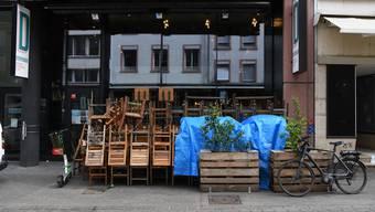 Geschäfte, Restaurants und Bars: In der Basler Innenstadt ist vieles geschlossen.