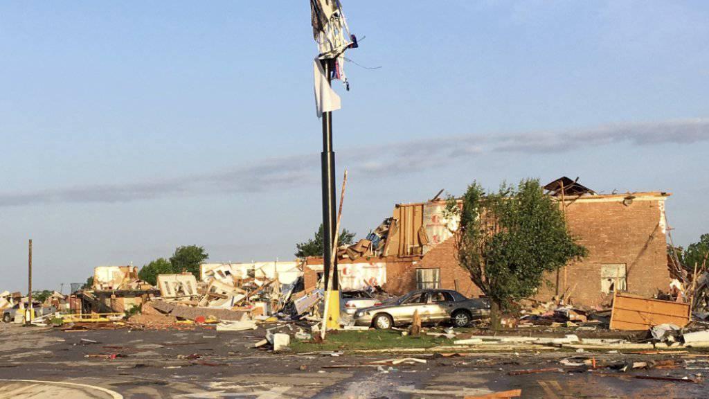 Der Tornado hinterliess eine Schneise der Verwüstung: Das hier war einmal ein Motel.