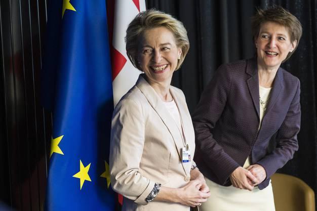 EU-Kommissionspräsidentin Ursula von der Leyen und Bundespräsidentin Simonetta Sommaruga am WEF in Davos (Januar 2020).