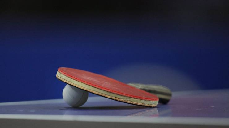 Heute spielte ich Pingpong.