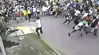 Bilder einer Überwachungskamera zeigen Schiesserei in New Orleans