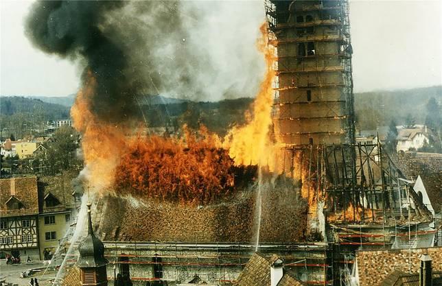Vor 35 Jahren brannte in Bremgarten die katholische Pfarrkirche.