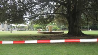 Im Kurpark ist bereits ein Baum umgefallen. Nun werden weitere abgesperrt.