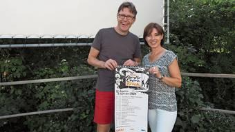 Philipp Weiss und Martina Welti starten heute ihr Open-Air-Kino – und sind überwältigt von der Solidarität der Fricktaler.