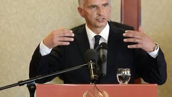 Burkhalter fordert ein stärkeres Engagement für die Schweizer Werte innerhalb der UNO