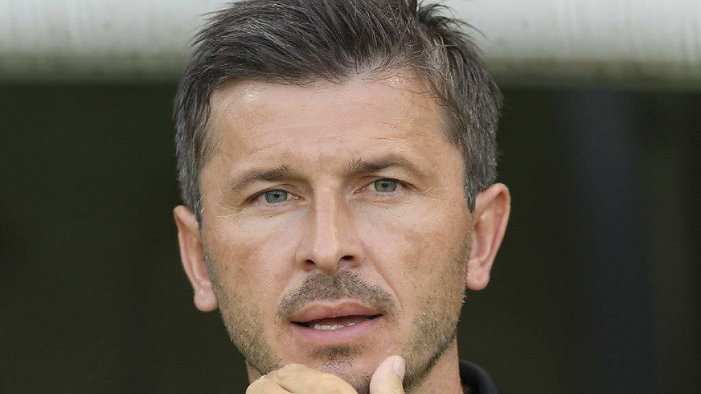 Aaraus Coach Marinko Jurendic sieht wenig Erbauliches von seiner Elf. (Archivbild)
