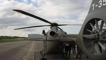 ein Militärhelikopter