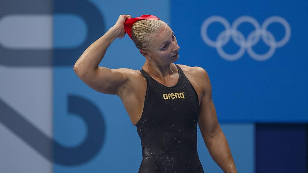 Maria Ugolkova hatte nach dem Halbfinal über 200 m Lagen mit den Tränen zu kämpfen