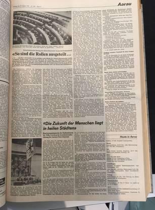 Am 22. Januar konsituierte sich der Aarauer Einwohnerrat zum ersten Mal. Das Aargauer Tagblatt (AT) berichtete ausführlich.