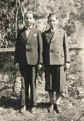 Karl Schweri mit seinem Bruder Walter 1933.