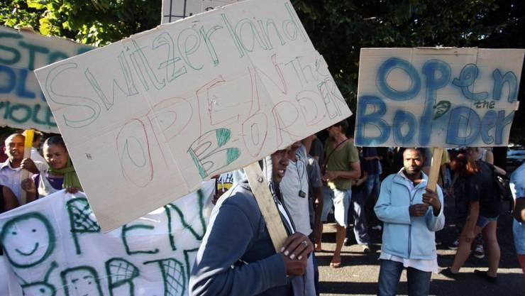 In Chiasso haben rund 250 Personen demonstriert.