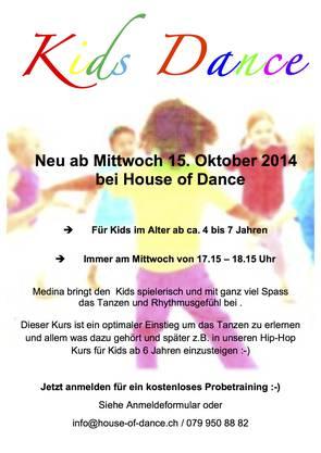 Kids Dance bei House of Dance Unterentfelden