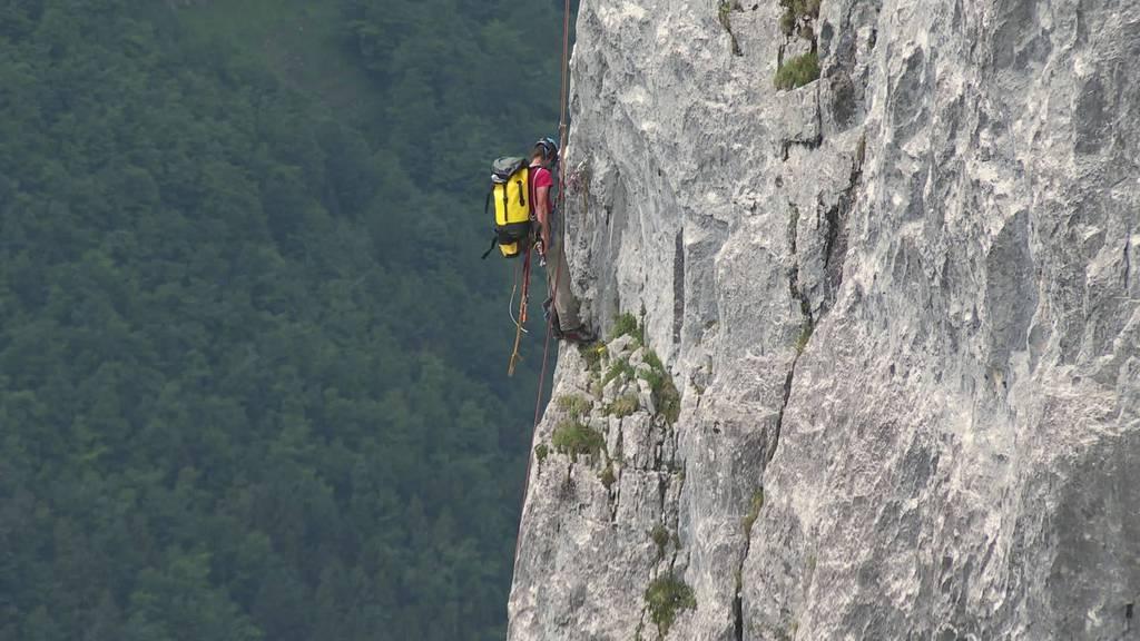 Arbeitsplatz Alpstein: Werner Küng saniert Kletterrouten