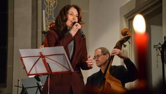 Sina verzückte mit Walliser Charme und grossartiger Stimme die Zuhörer in der Kirche von Villmergen.