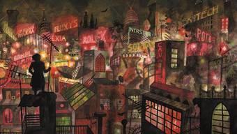 """Nächtliches Leben in der Grossstadt Paris aus dem 2019 erschienenen Comic """"Les Rigoles"""" von Brecht Evens."""