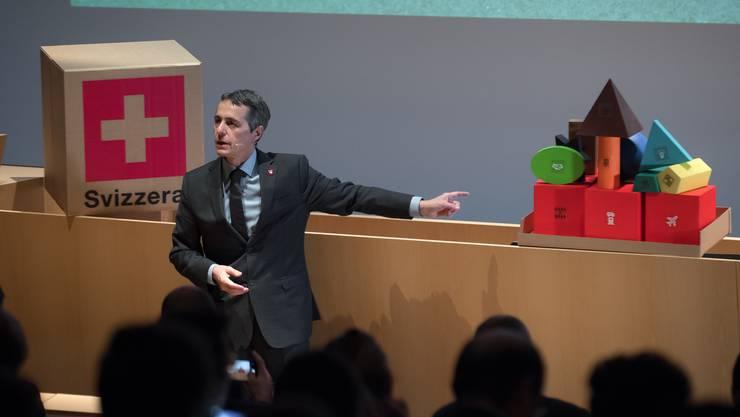 «So kompliziert ist das nicht»: Ignazio Cassis erklärt das Rahmenabkommen.