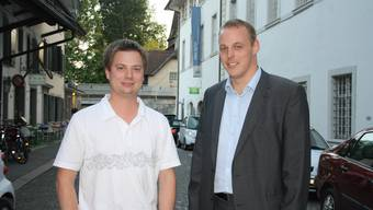 Pascal Walter und Gaudenz Oetterli leiteten die Generalversammlung der CVP Solothurn als Co-Präsidenten. (Archiv)