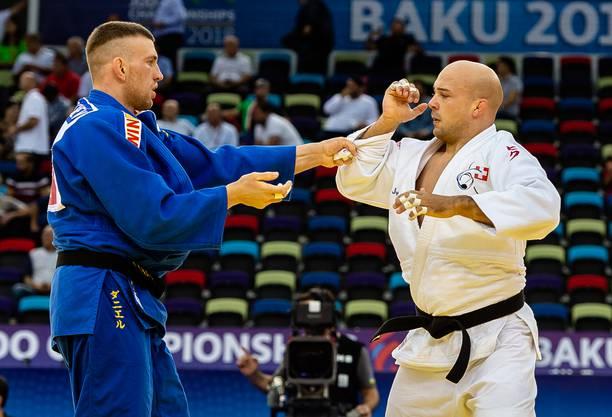 Der Brugger Judoka Patrik Moser (rechts) reiste erstmals an eine Weltmeisterschaft.