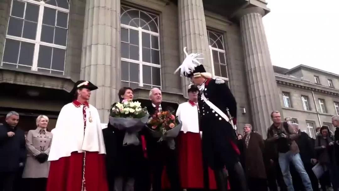 Simonetta Sommaruga und Hans Stöckli feiern gemeinsam