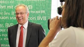 Erich Lagler an der Medienkonferenz im Juni in Basel.