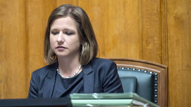 Christa Markwalder präsentierte sich in einer Mitteilung als unschuldige Landesmutter.