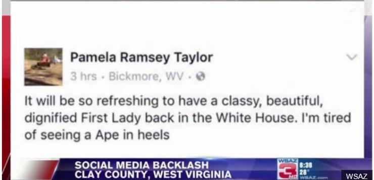 """In einem Facebook-Post wird First Lady Michelle Obama als """"Affe in High-heels"""" bezeichnet. Mit Folgen."""