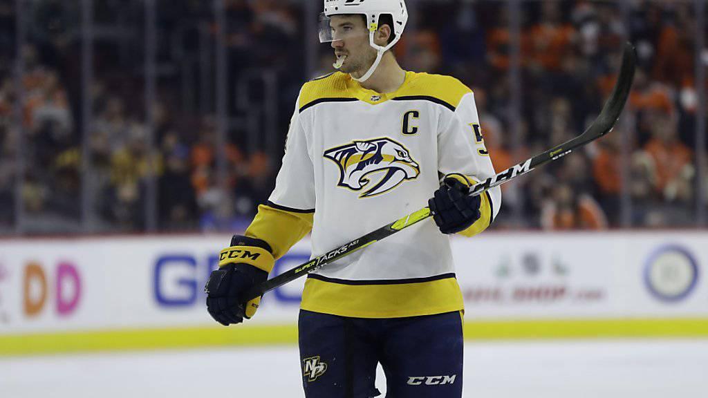 Roman Josi, Captain der Nashville Predators, war der Auffälligste an einem wenig erfolgreichen Schweizer Abend in der NHL - 29:50 Minuten Eiszeit und Plus-1-Bilanz